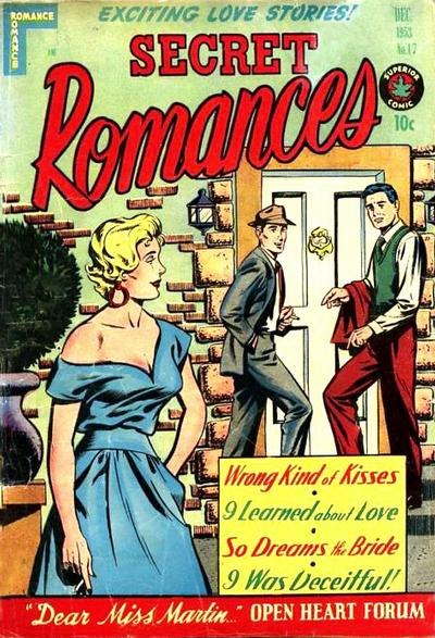 Cover for Secret Romances (Superior Publishers Limited, 1951 series) #17