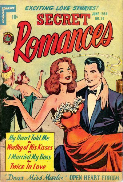 Cover for Secret Romances (Superior Publishers Limited, 1951 series) #20