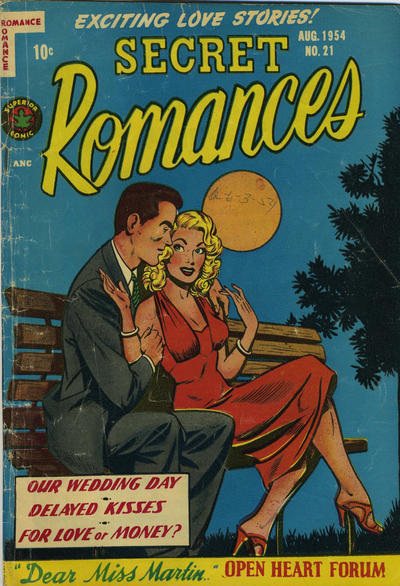 Cover for Secret Romances (Superior Publishers Limited, 1951 series) #21