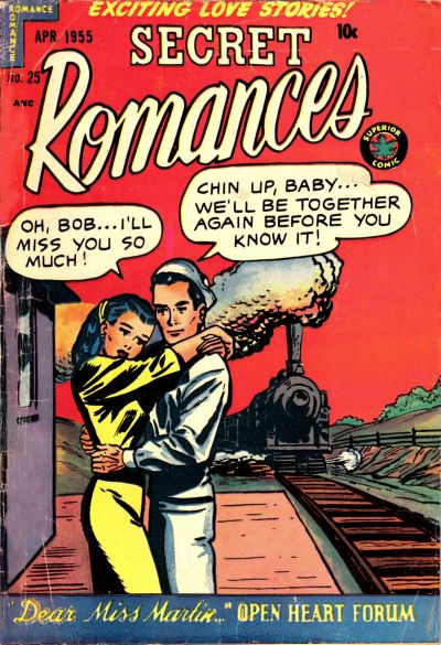 Cover for Secret Romances (Superior Publishers Limited, 1951 series) #25