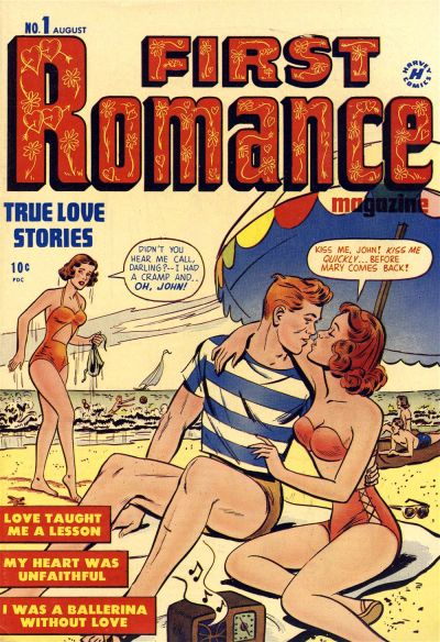 Cover for First Romance Magazine (Harvey, 1949 series) #1