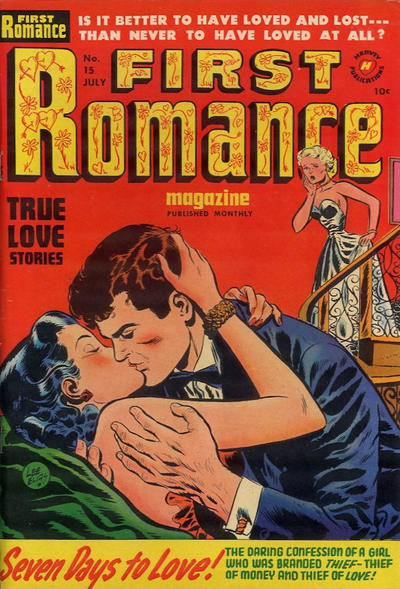 Cover for First Romance Magazine (Harvey, 1949 series) #15