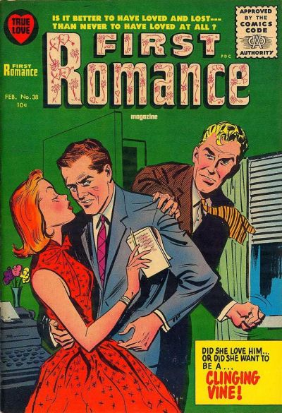Cover for First Romance Magazine (Harvey, 1949 series) #38