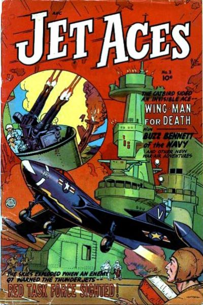 Cover for Jet Aces (Fiction House, 1952 series) #3