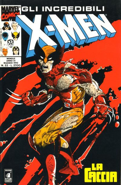 Cover for Gli Incredibili X-Men (Edizioni Star Comics, 1990 series) #22