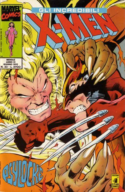 Cover for Gli Incredibili X-Men (Edizioni Star Comics, 1990 series) #23