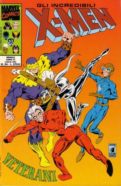 Cover for Gli Incredibili X-Men (Edizioni Star Comics, 1990 series) #24
