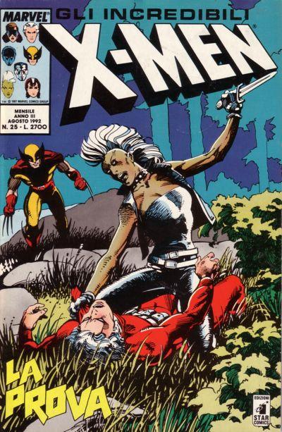 Cover for Gli Incredibili X-Men (Edizioni Star Comics, 1990 series) #25