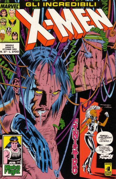 Cover for Gli Incredibili X-Men (Edizioni Star Comics, 1990 series) #27