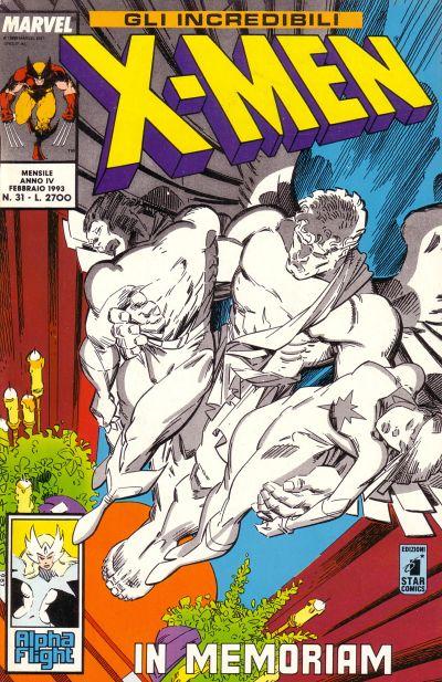 Cover for Gli Incredibili X-Men (Edizioni Star Comics, 1990 series) #31