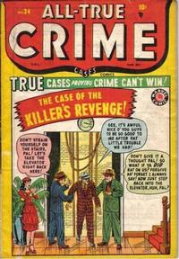Cover Thumbnail for All True Crime Cases Comics (Bell Features, 1948 series) #34