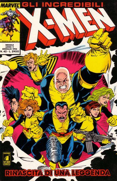 Cover for Gli Incredibili X-Men (Edizioni Star Comics, 1990 series) #42