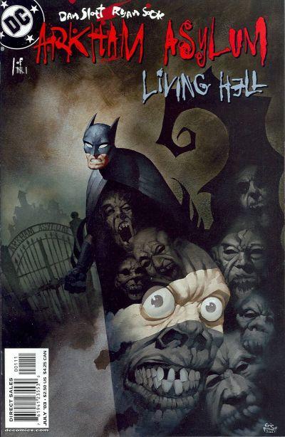 Cover for Arkham Asylum: Living Hell (DC, 2003 series) #1