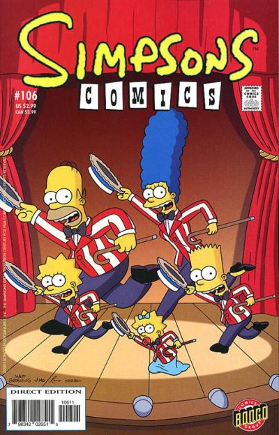 Cover for Simpsons Comics (Bongo, 1993 series) #106