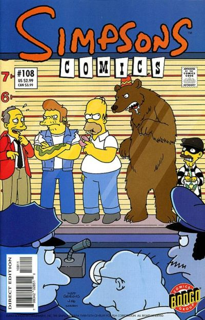 Cover for Simpsons Comics (Bongo, 1993 series) #108