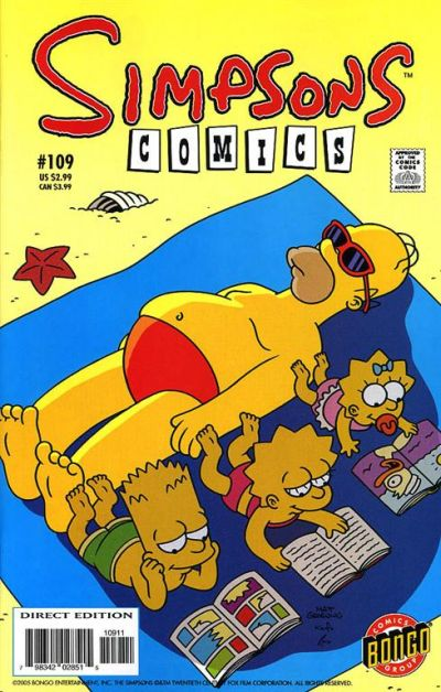 Cover for Simpsons Comics (Bongo, 1993 series) #109