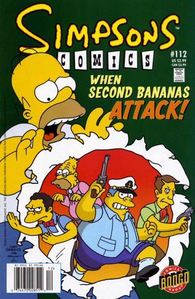 Cover for Simpsons Comics (Bongo, 1993 series) #112
