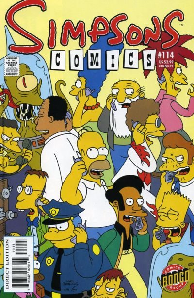 Cover for Simpsons Comics (Bongo, 1993 series) #114