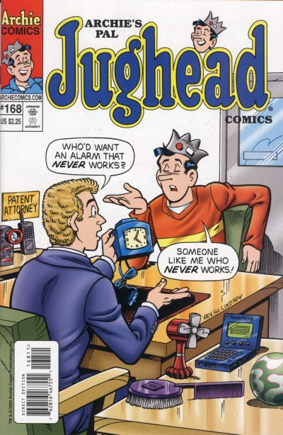 Cover for Archie's Pal Jughead Comics (Archie, 1993 series) #168