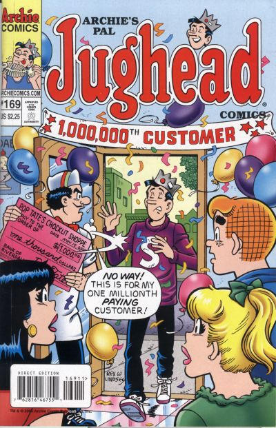 Cover for Archie's Pal Jughead Comics (Archie, 1993 series) #169