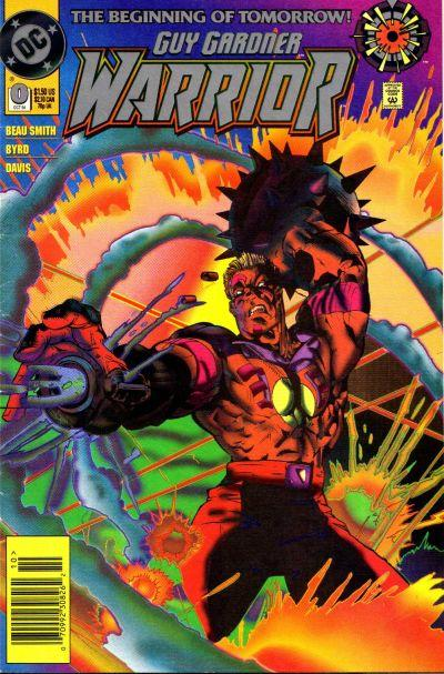 Cover for Guy Gardner: Warrior (DC, 1994 series) #0 [Newsstand]