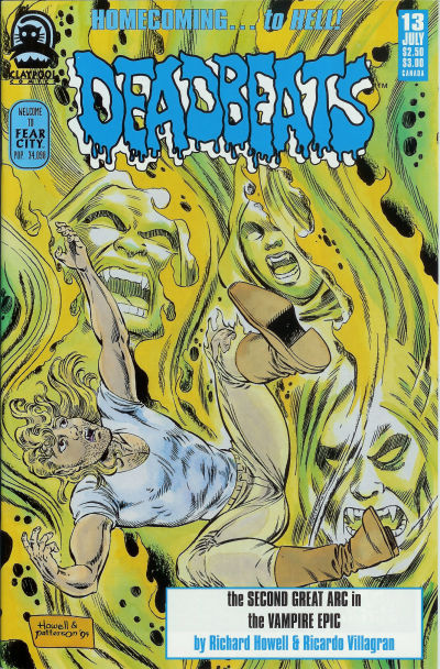 Cover for Deadbeats (Claypool Comics, 1993 series) #13