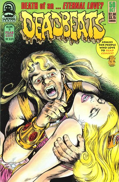 Cover for Deadbeats (Claypool Comics, 1993 series) #50