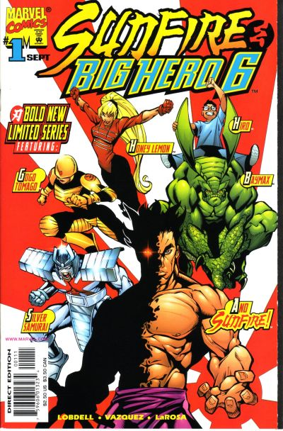 Cover for Sunfire & Big Hero Six (Marvel, 1998 series) #1
