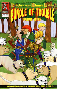 Cover Thumbnail for Knights of the Dinner Table: Bundle of Trouble (Kenzer and Company, 1998 series) #7 [First Printing]