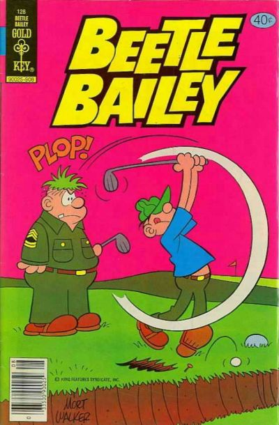 Cover for Beetle Bailey (Western, 1978 series) #128 [Gold Key]