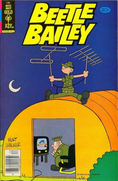Cover for Beetle Bailey (Western, 1978 series) #130 [Gold Key]