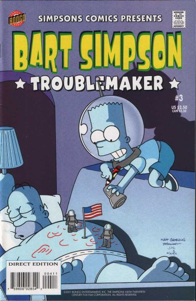 Cover for Simpsons Comics Presents Bart Simpson (Bongo, 2000 series) #3
