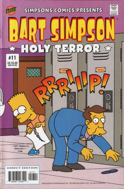 Cover for Simpsons Comics Presents Bart Simpson (Bongo, 2000 series) #11