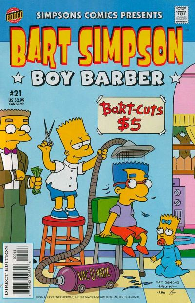 Cover for Simpsons Comics Presents Bart Simpson (Bongo, 2000 series) #21