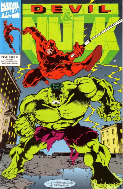 Cover for Devil & Hulk (Marvel Italia, 1994 series) #0