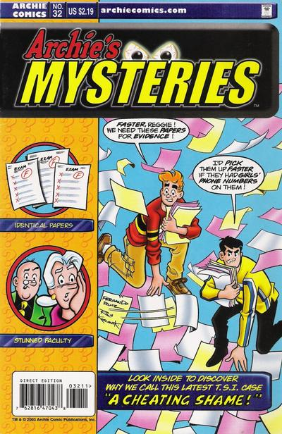 Cover for Archie's Mysteries (Archie, 2003 series) #32