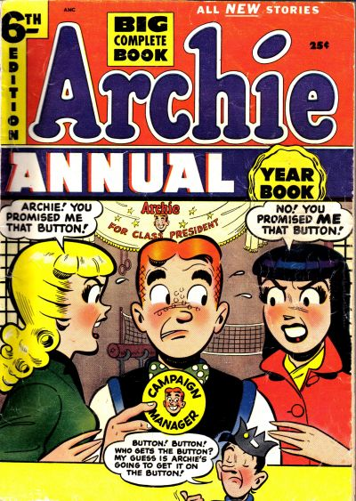 Cover for Archie Annual (Archie, 1950 series) #6