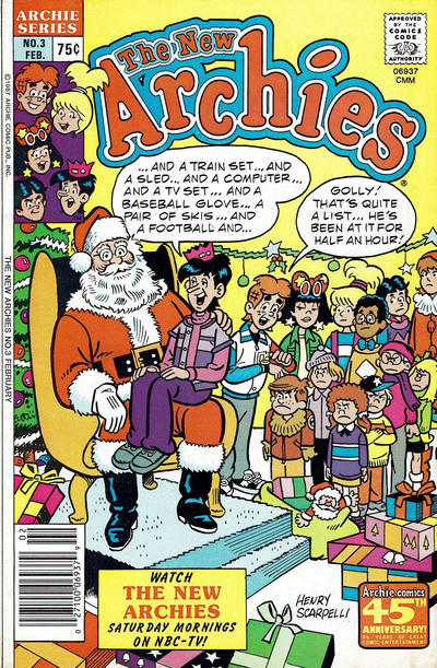 Cover for The New Archies (Archie, 1987 series) #3