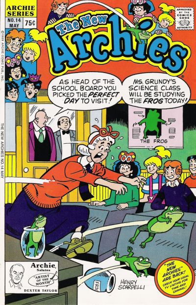 Cover for The New Archies (Archie, 1987 series) #14 [Newsstand]