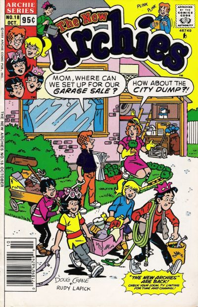 Cover for The New Archies (Archie, 1987 series) #18