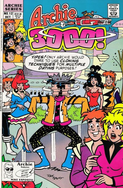 Cover for Archie 3000 (Archie, 1989 series) #12 [Direct]
