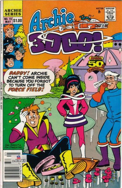 Cover for Archie 3000 (Archie, 1989 series) #15