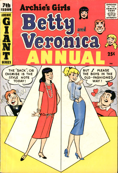 Cover for Archie's Girls, Betty and Veronica Annual (Archie, 1953 series) #7
