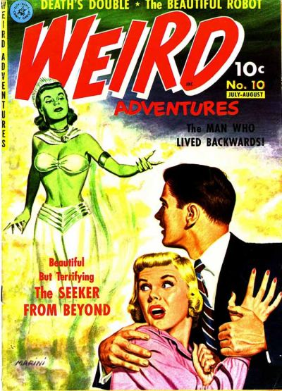 Cover for Weird Adventures (Ziff-Davis, 1951 series) #10