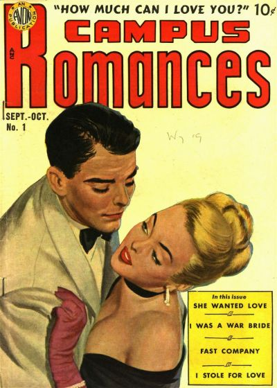 Cover for Campus Romance (Avon, 1949 series) #1