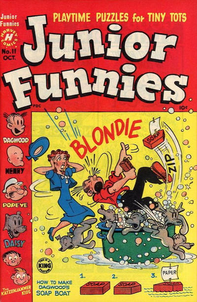 Cover for Junior Funnies (Harvey, 1951 series) #11