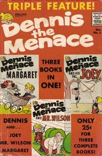 Cover Thumbnail for Dennis the Menace Triple Feature (Hallden; Fawcett, 1961 series) #1