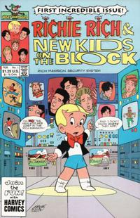 Cover Thumbnail for Richie Rich and The New Kids on the Block (Harvey, 1991 series) #1