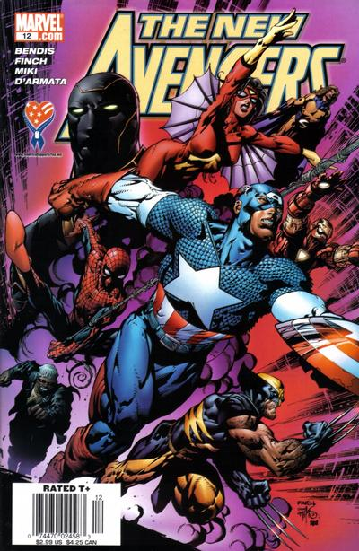 Cover for New Avengers (Marvel, 2005 series) #12 [Newsstand]