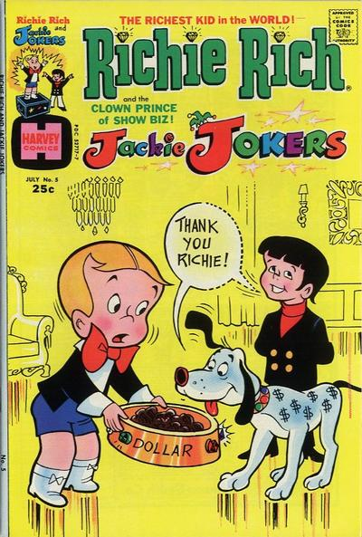 Cover for Richie Rich & Jackie Jokers (Harvey, 1973 series) #5